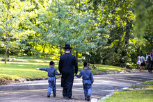A Family Of Hasidic Jews, A Ma...
