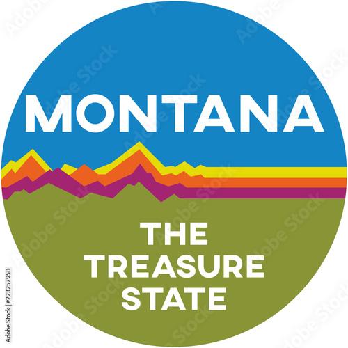 montana: the treasure state   digital badge Canvas Print
