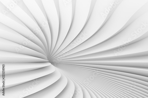 Fototapety, obrazy: The texture of radiating surround of white stripes. 3d illustration