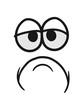 canvas print picture - augen mund gesicht lustig comic cartoon clipart kopf traurig müde unglücklich cool