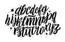 Graffiti Font. Alphabet Isolat...