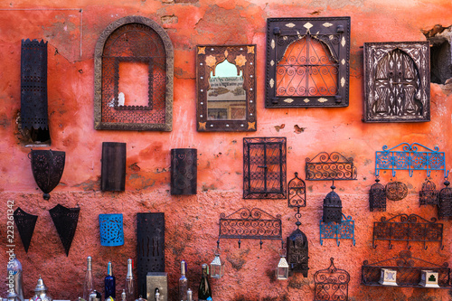 Items for sale in Marrakesh souq, Morocco