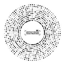 Abstract Halftone Circle Frame...