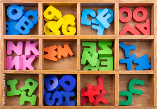 Colorful Letters made of wood