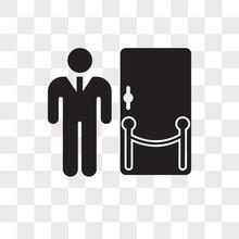 Doorman Vector Icon Isolated On Transparent Background, Doorman Logo Design