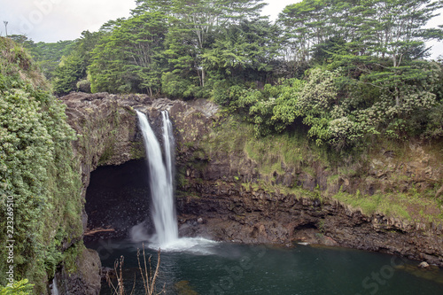 Rainbow Falls, Big Island, Hawaii Wallpaper Mural