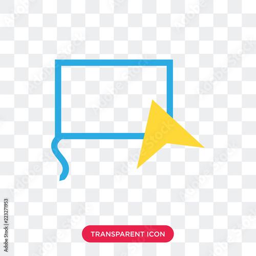 Fototapeta Lasso vector icon isolated on transparent background, Lasso logo design obraz na płótnie