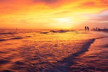 Beautiful Sunset On Siesta Key, Florida