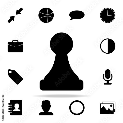 Fotografie, Obraz  chess pawn icon. web icons universal set for web and mobile