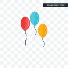Balloon Vector Icon Isolated On Transparent Background, Balloon Logo Design