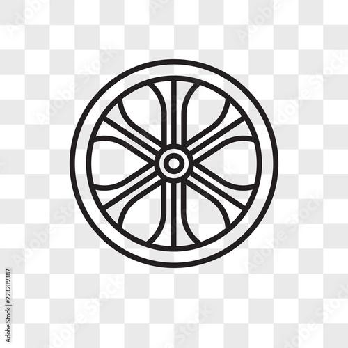 Photo Alloy wheel vector icon isolated on transparent background, Alloy wheel logo des