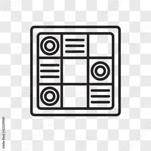 Fototapety, obrazy: Checkers vector icon isolated on transparent background, Checkers logo design