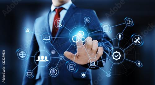 Fototapeta Automation Software Technology Process System Business concept obraz