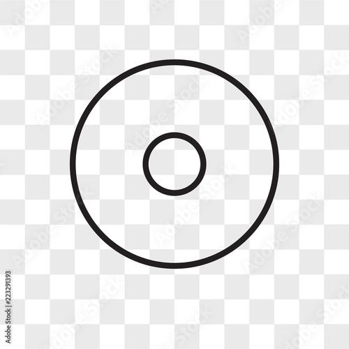 Fototapeta Point vector icon isolated on transparent background, Point logo design obraz na płótnie