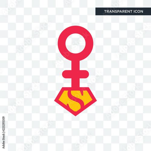 superwoman vector icon isolated on transparent background, superwoman logo desig фототапет