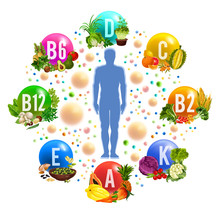 Healthy Good And Vitamin Nutrition