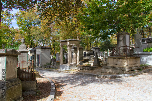 cimetière du père-lachaise Canvas Print