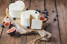 Ricotta Cheese On Rustic Cutti...