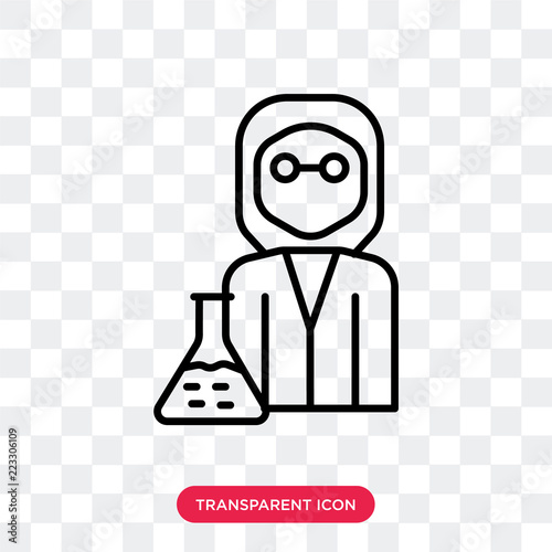 scientist vector icon isolated on transparent background scientist logo design buy this stock vector and explore similar vectors at adobe stock adobe stock scientist vector icon isolated on