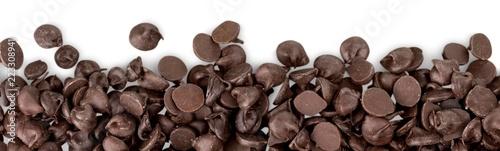 Photo  Chocolate chocolate chips isolated chunks decoration chocolate
