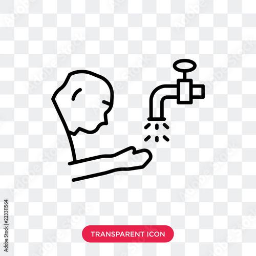 Photo  Salah vector icon isolated on transparent background, Salah logo design