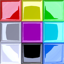 3D Enhanced RGB Additive Color Modell / Palette