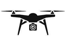 Vector Drone Icon Black Design