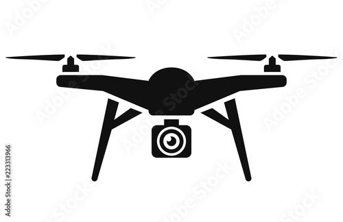 Fototapeta Vector drone icon black design obraz