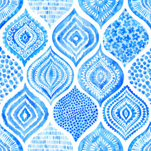 Seamless Watercolor Pattern. V...