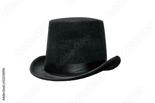 62663c4d3bd Black bowler hat isolated on white background. - Buy this stock ...