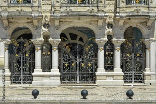 Fotografie, Obraz  Fachadas estilo Art Nouveau en Aveiro (Portugal)