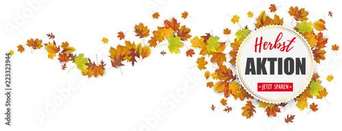 Foto op Canvas Hoogte schaal Banner Herbstaktion jetzt sparen