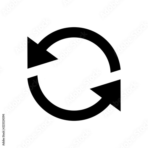 Fototapeta  Reload refresh icon for simple flat style ui design