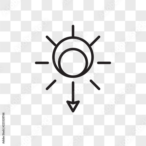 sunset vector icon isolated on transparent background sunset logo design buy this stock vector and explore similar vectors at adobe stock adobe stock adobe stock