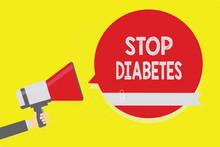 Handwriting Text Stop Diabetes...