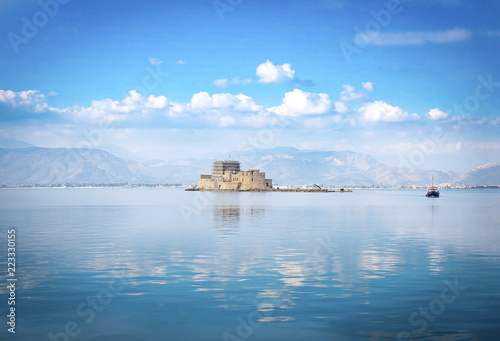 Fotografie, Obraz  View of old Venetian fortress and old prison, Bourtzi at the sea