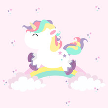 Unicorn Mini With Rainbows In ...