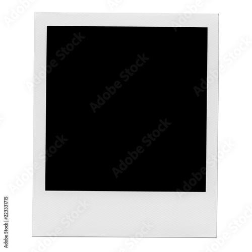 Fototapeta Retro realistic blank instant photo with shadow obraz na płótnie