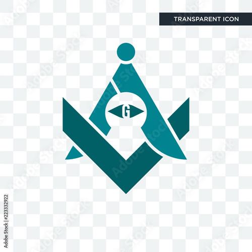 Valokuva  freemasons vector icon isolated on transparent background, freemasons logo desig