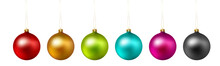 Set Of Color Christmas Ball On...