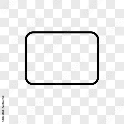 Fotografía  Rectangle vector icon isolated on transparent background, Rectangle logo design