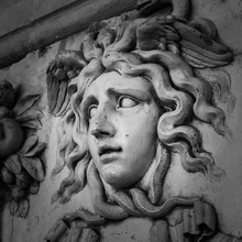 Head With Wreath Detail Of The...