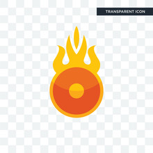 O Fire Vector Icon Isolated On Transparent Background, O Fire Logo Design