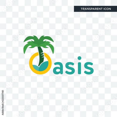 Fotografija oasis vector icon isolated on transparent background, oasis logo design
