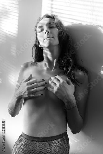 Deurstickers Akt sensual young woman