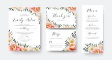Wedding Floral Invite, Thank Y...