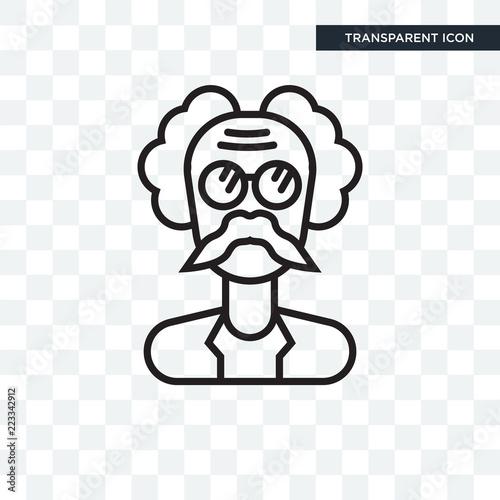 Photo  Einstein vector icon isolated on transparent background, Einstein logo design