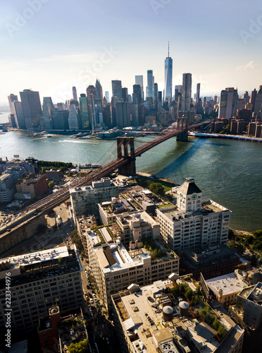 Foto op Plexiglas Amerikaanse Plekken Manhattan bridge New York city aerial view