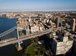 Aerial view of Brooklyn and Manhattan bridge in New York