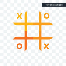Tic Tac Toe Vector Icon Isolated On Transparent Background, Tic Tac Toe Logo Design